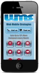 Web Mobile Strategies Mobile site